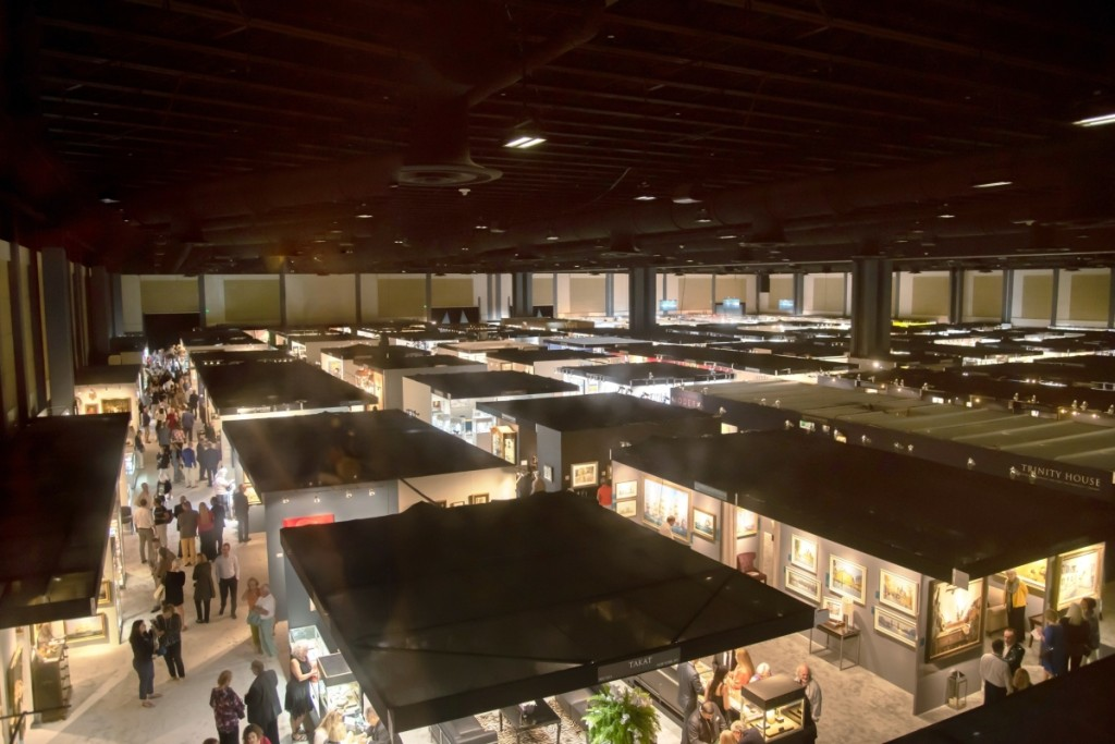 The 2020 Palm Beach Show housed approximately 150 exhibitors at the Palm Beach County Convention Center. Annie Watt photo, courtesy Palm Beach Show Group.