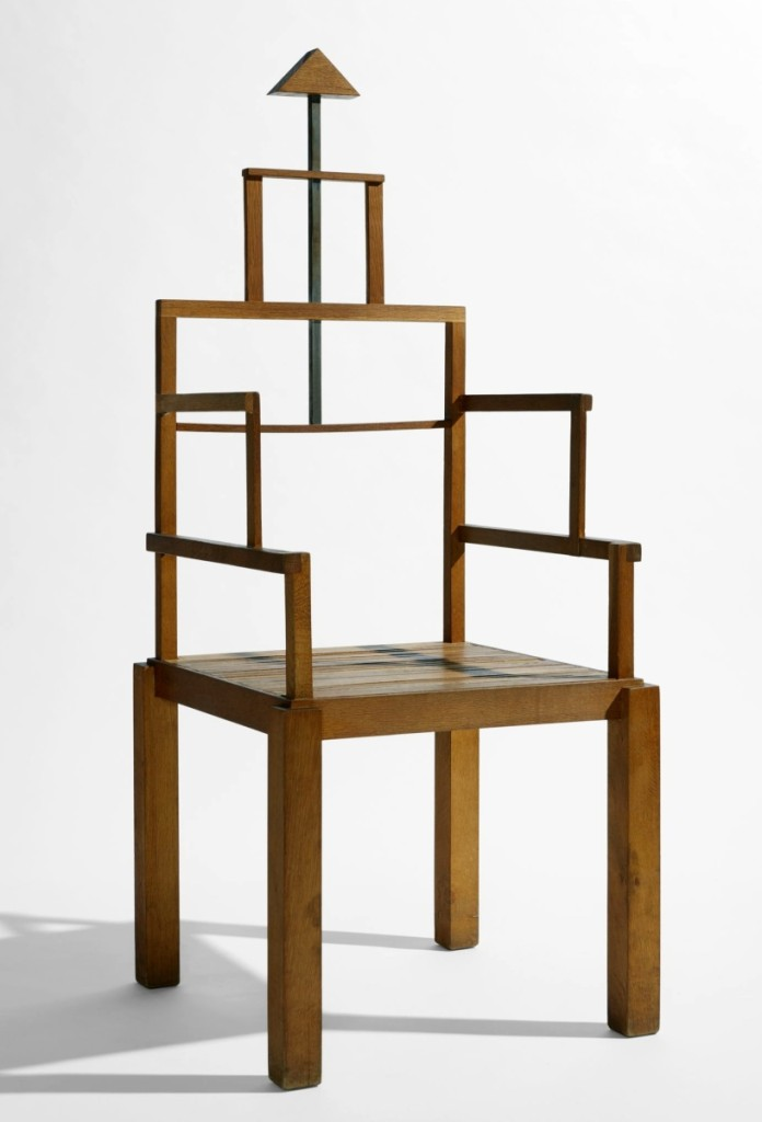 """San Picasso"" Chair by Ugo Marano, 1978. Wood. The Museum of Fine Arts, Houston, the Dennis Freedman Collection, Museum purchase funded by the Caroline Wiess Law Accessions Endowment Fund. Photo by Kent Pell."