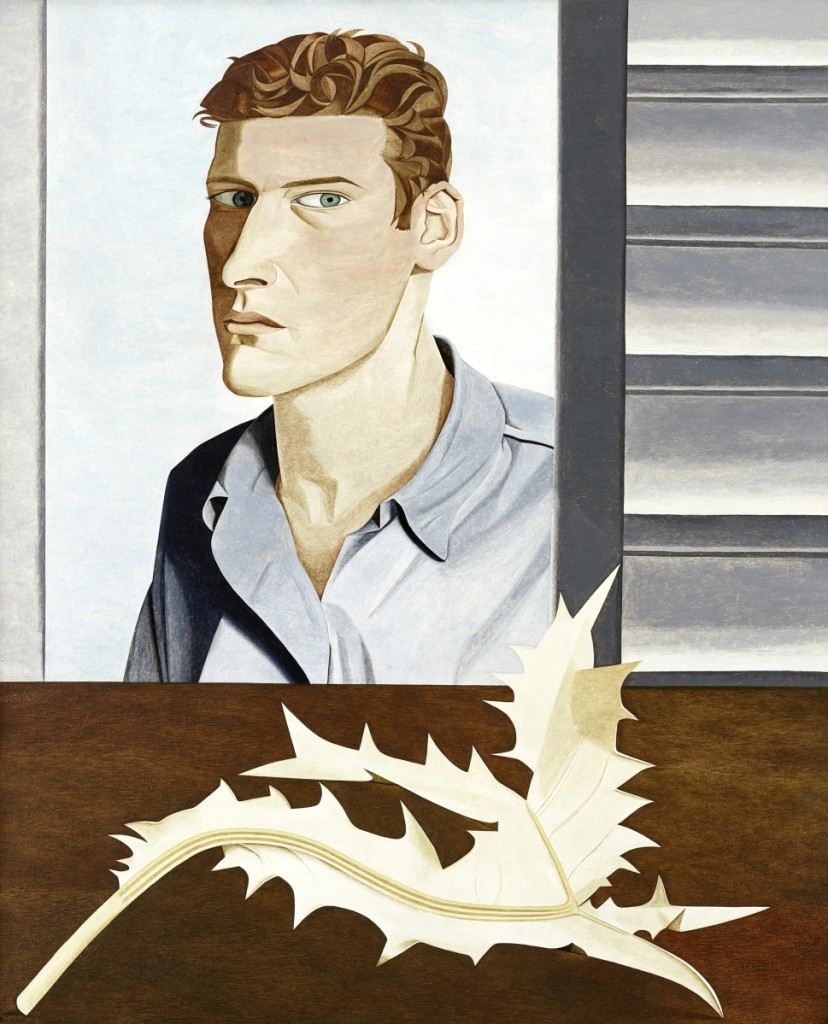 """Man with a Thistle (Self‑portrait),"" 1946. Oil on canvas. Collection of Tate, purchased 1961. Image ©The Lucian Freud Archive / Bridgeman Images. Courtesy Museum of Fine Arts, Boston."