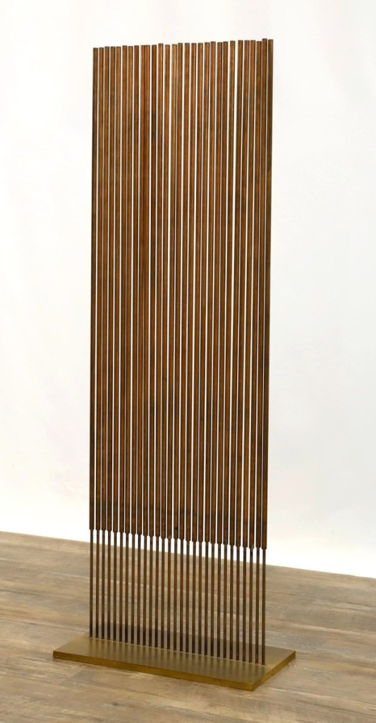 """Taking the top honor of the sales was Harry Bertoia's """"Sonambient,"""" which brought $87,000 from a New York state buyer bidding on the phone against a Bucks County collector in the room ($15/30,000)."""