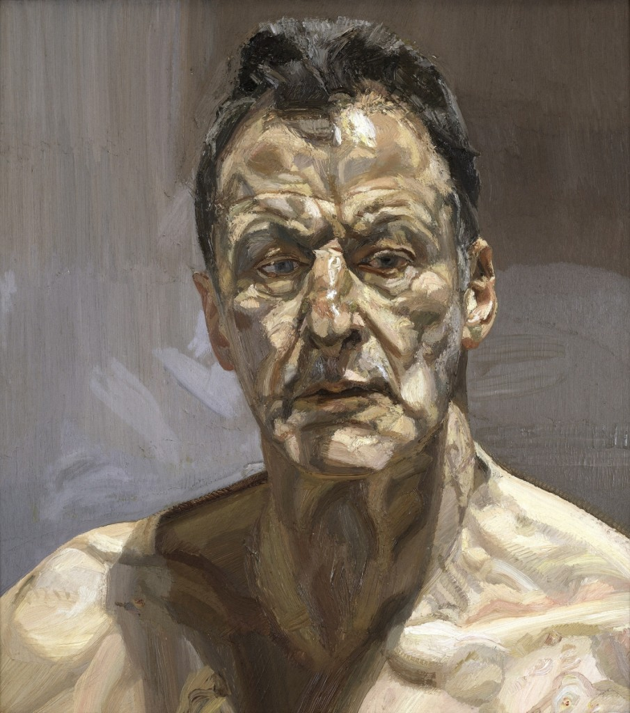 """Reflection (Self‑portrait),"" 1985. Oil on canvas. Private collection, on loan from the Irish Museum of Modern Art. Image ©The Lucian Freud Archive / Bridgeman Images. Courtesy Museum of Fine Arts, Boston."