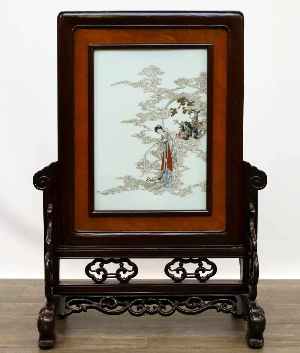 2189 Chinese porcelain table plaque