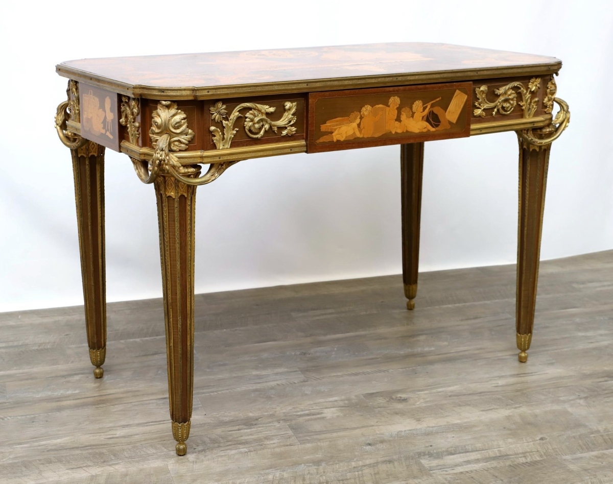2254 French Marquetry table