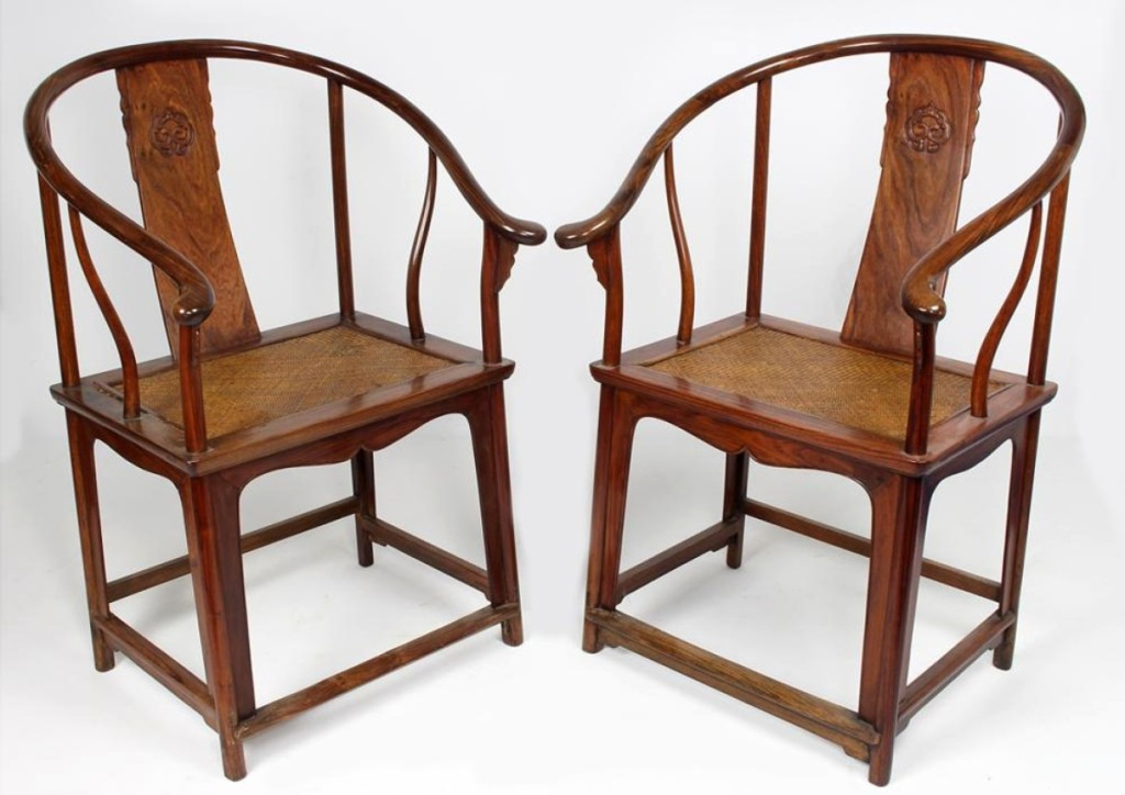 A pleasant surprise towards the end of the sale, bought by a bidder in the room, was a pair of Eighteenth Century Chinese huanghuali Qing dynasty armchairs. Bringing $96,000, they were the highest priced lot in the sale.