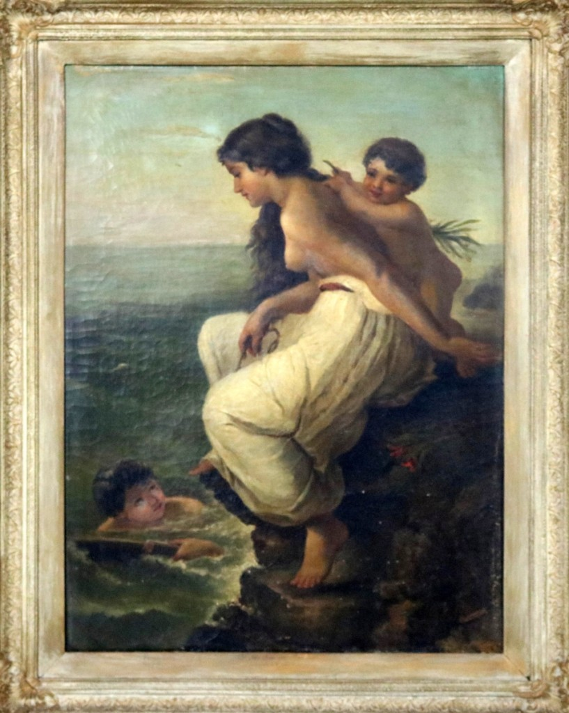 """""""The Sea Maiden"""" by Etienne Adolphe Piot enchanted bidders who propelled the lot into first place at $3,198. An online bidder prevailed against phone and online competition ($3/5,000)."""