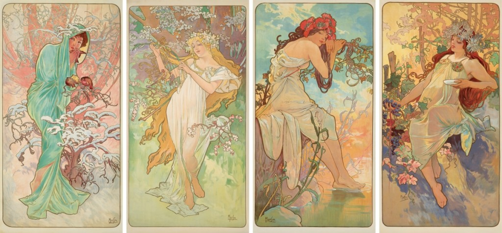 "Passion for Alphonse Mucha's images was high throughout the sale, including his iconic 1896 ""The Seasons;"" the four idyllic decorative panels were won for $45,600."