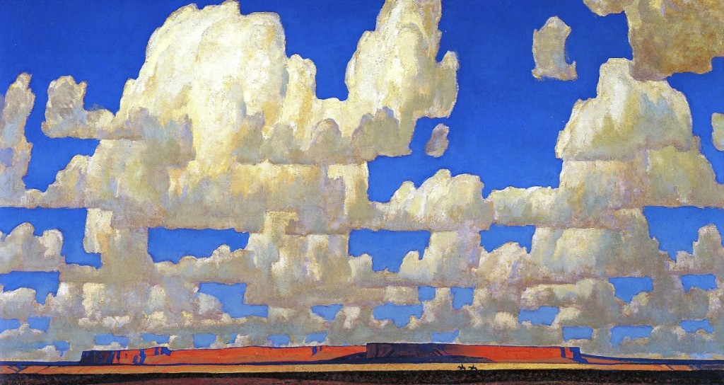 """Cloud World,"" 1925. Oil on canvas. Courtesy of Adrienne Ruger Conzelman."