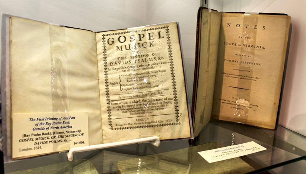 At William Reese Company, New Haven, Conn., Bay Psalm Book, London, 1644, the first printing of any part of it outside North America.