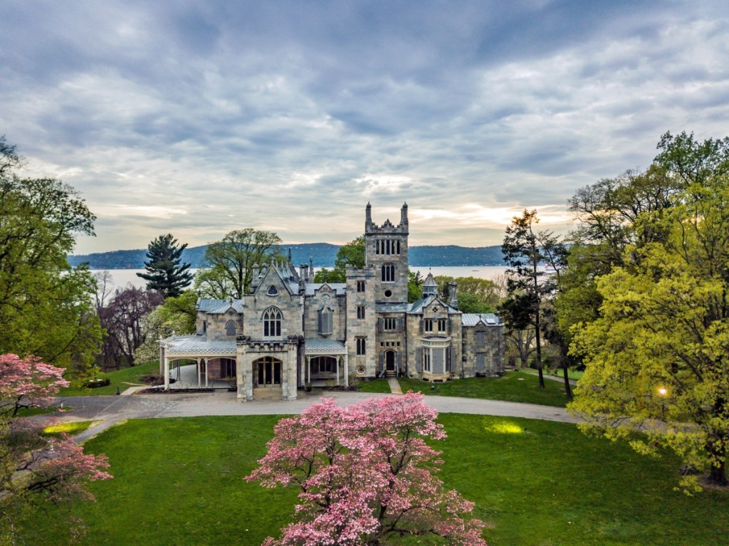 An aerial view of Lyndhurst mansion in the spring.                  —Justin Barr photo