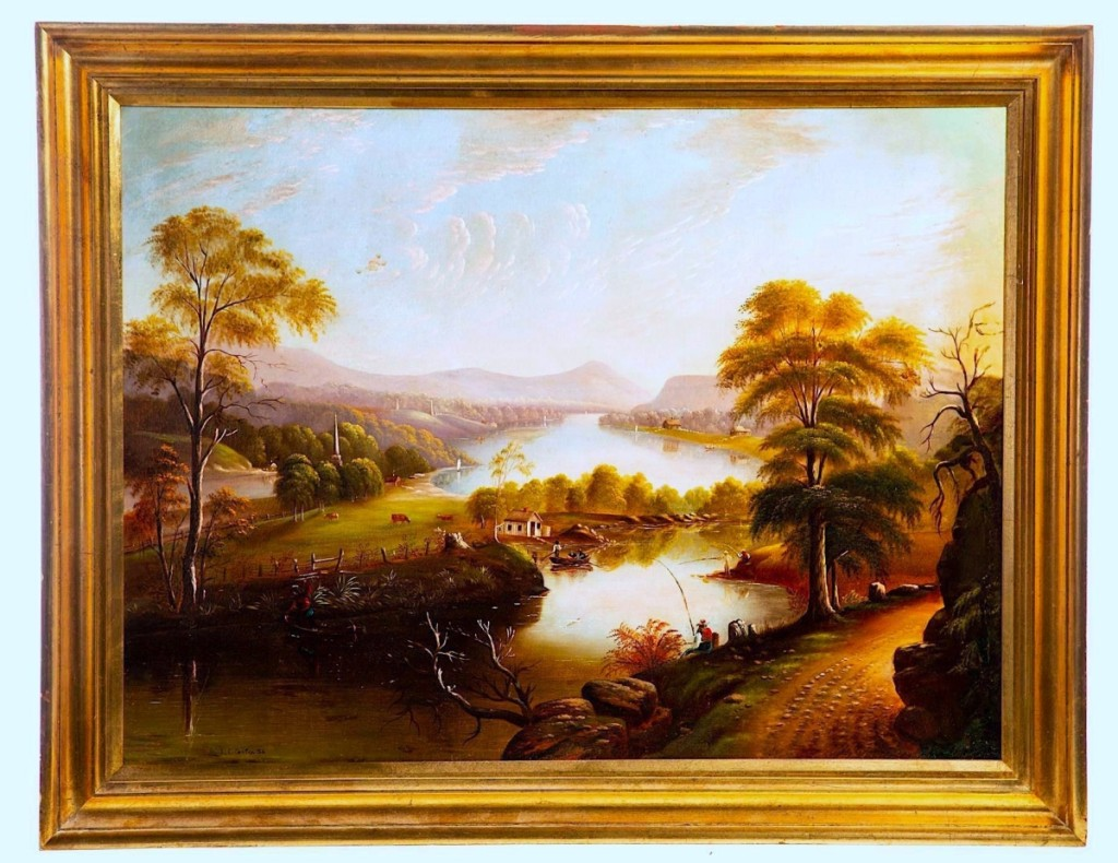 """It was a beautiful landscape with great depth and wonderful use of light,"" Jeffers said about this panoramic vista depicted by Edmund Coates; a private buyer from Ohio bought it for $3,600, the highest price in the sale ($2,5/3,500)."