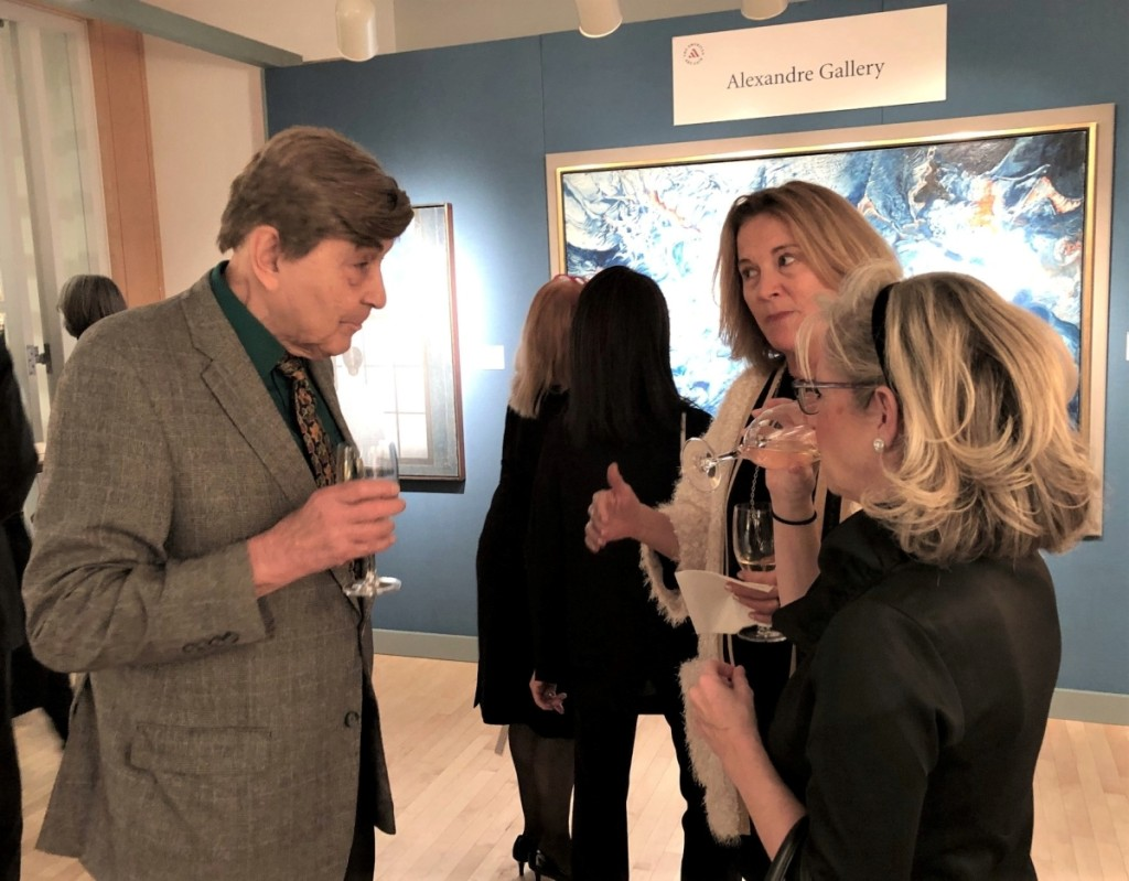 William Gerdts at the American Art Fair, November 2019, Laura Beach photo for Antiques & The Arts Weekly.