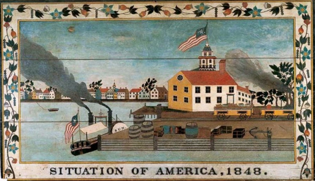"""Situation of America, 1848"""