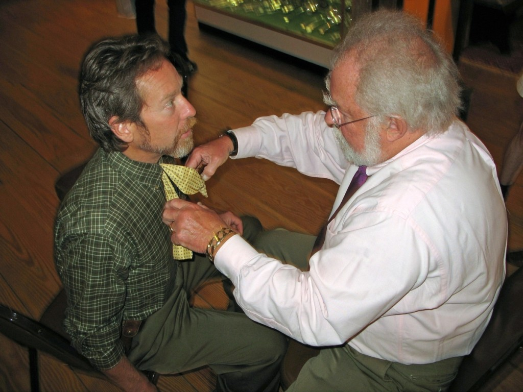 Don Heller always asked Lee to help him with his bow tie when they did shows together. Lee finally taught Don how to tie it himself.