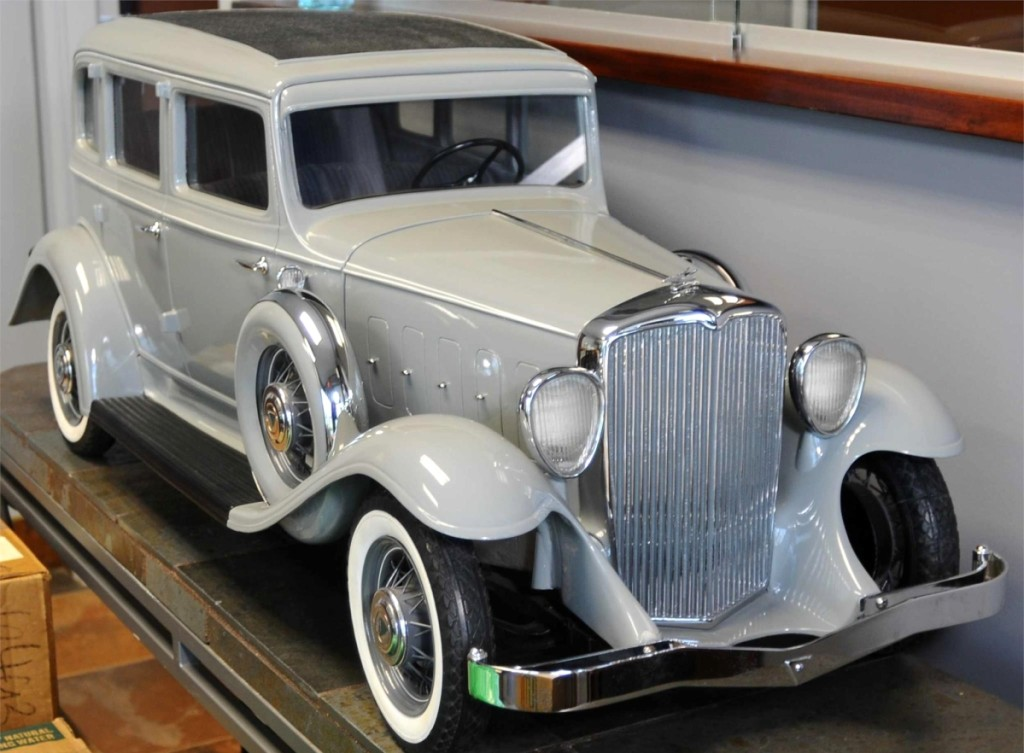 This 1932 Hudson factory showroom model was reportedly presented at the New York 1932 Auto Show. It measures 46 inches long in restored condition and sold for $28,800.