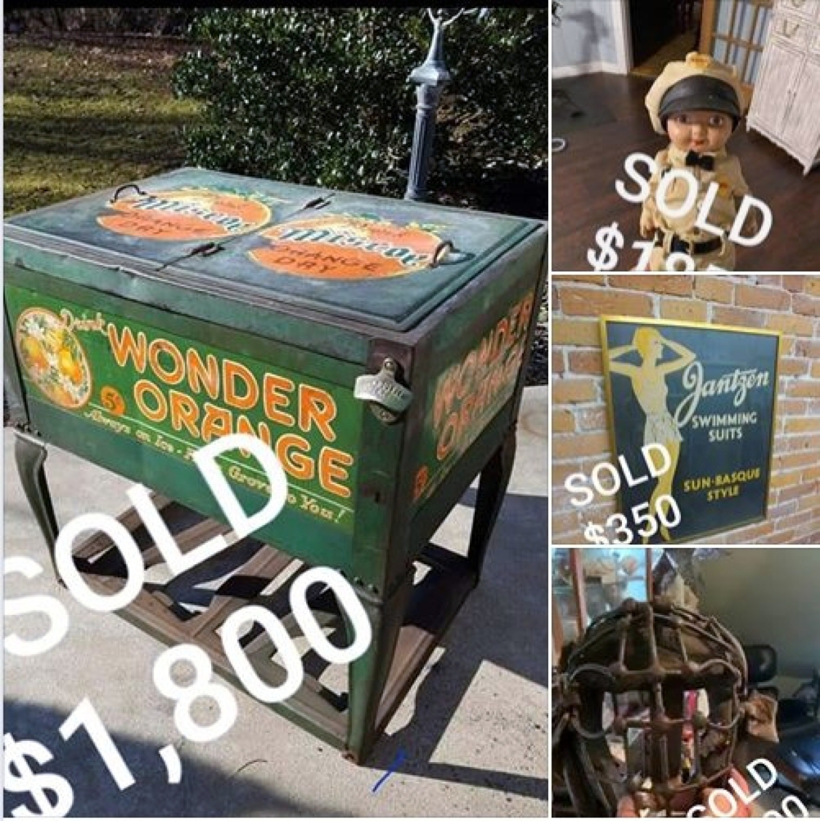 As of 8:30 am on Thursday, May 14, Michael Lord, one of the administrators of the Brimfield Online Facebook group, had posted photos of four things that sellers in the group had sold since it opened.