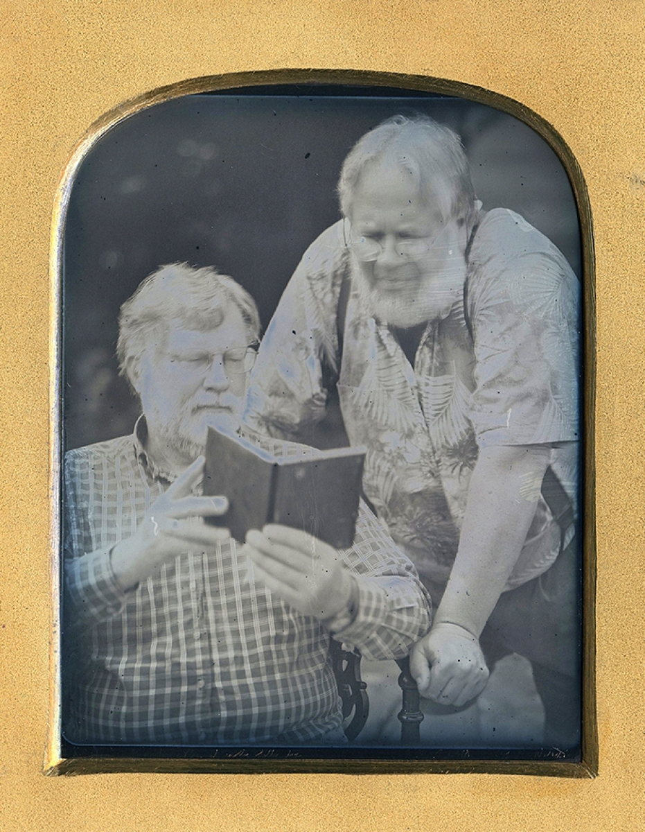 Keith Davis and Dennis Waters, Daguerreotype by Casey Waters.