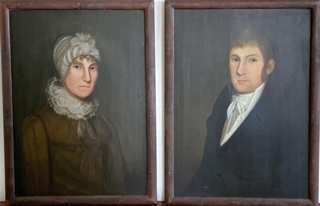 Scott Bassoff, Sandy Jacobs Antiques, Swampscott, Mass., sold a pair of portrait paintings by New England artist Zedekiah Belknap (active Mass., Conn., N.H.).