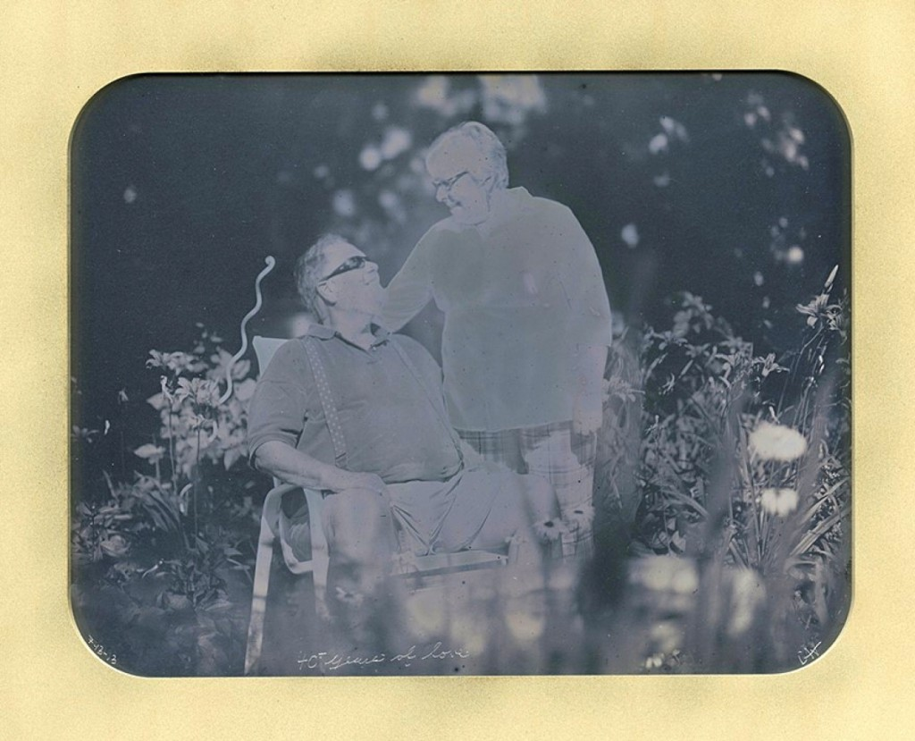 """40 Years of Love"" Dennis and Carol Waters, Daguerreotype by Casey Waters, May 2013."