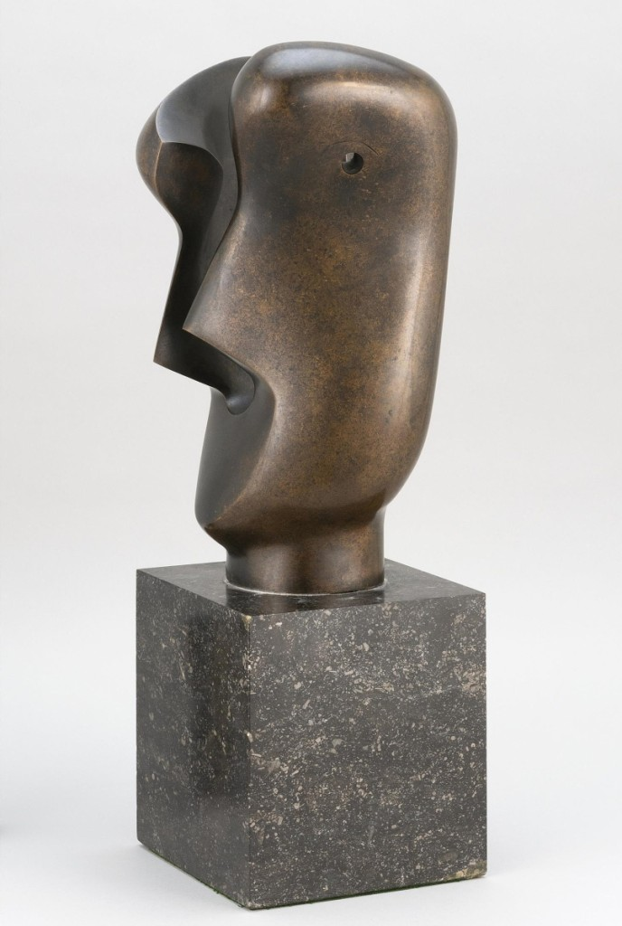 "The bronze sculpture by Henry Spencer Moore (English, 1898-1986) titled ""Divided Head"" and from the estate of a Rhode Island gentleman, sold for $137,500 and was the top lot of the two-day auction."