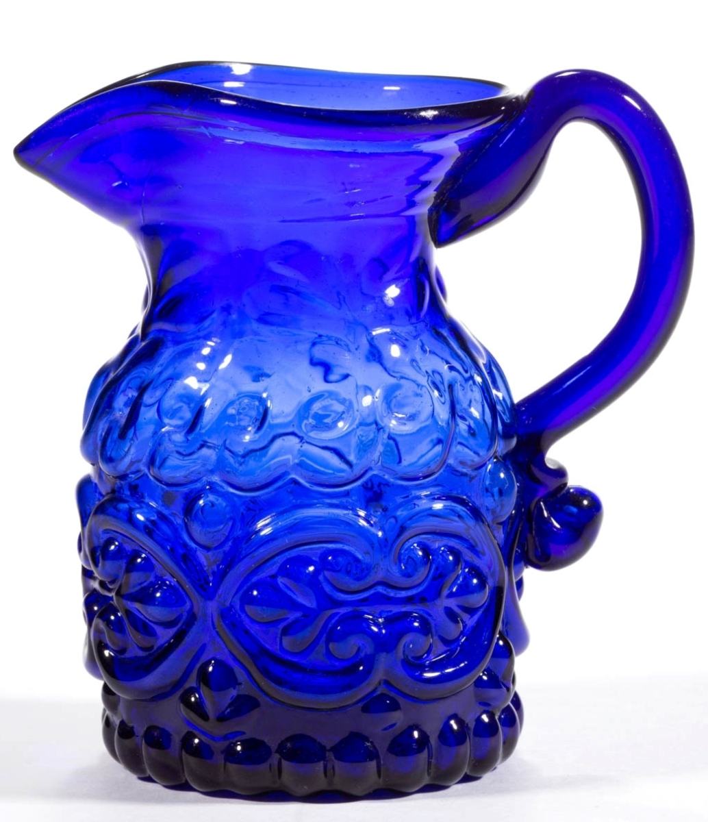 Leading the sale was this blown-molded GV-14 cream jug, $7,605.