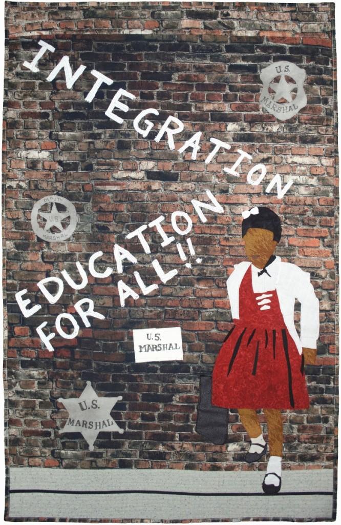 """Ruby Bridges: Standing Alone""   by Leo Ransom, Sherman, Texas"