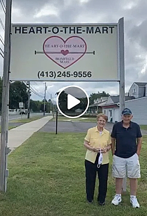 Owners of Heart-O-The-Mart, Pam and Don Moriarty, greet virtual visitors to their field opening on Wednesday. —Brimfield LIVE