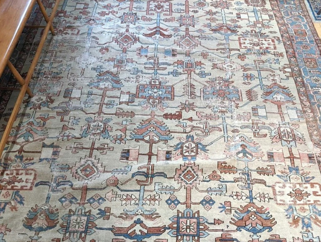 A surprise result, and the sale's top lot, was found in this oriental carpet that sold for $2,706. It measured 10 by 12 feet.