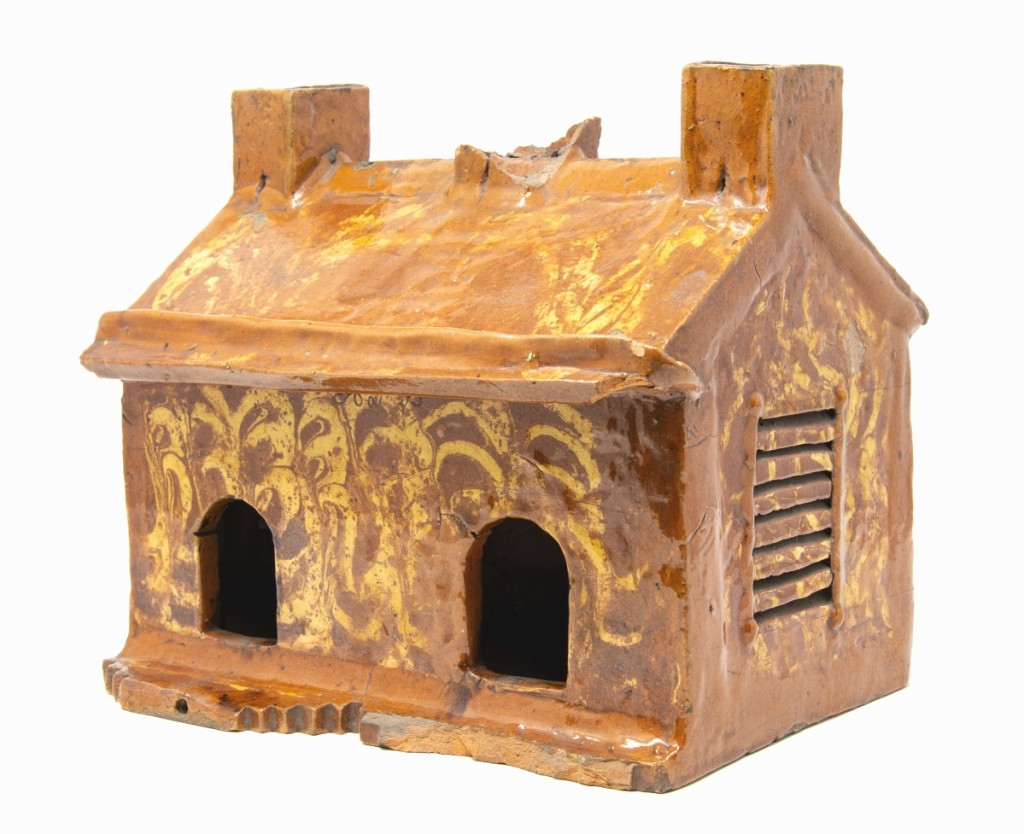 Nineteenth Century Pennsylvania slipware birdhouse. Collection of Chester County Historical Society.