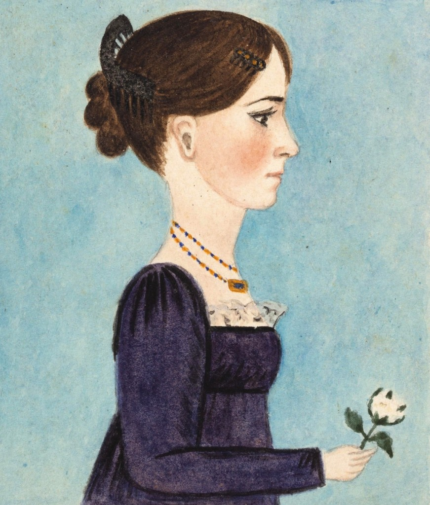 A group of eight miniature watercolor and pencil waist-length profile portraits of the Brock Family of Madison County, Va., was in the running to be one of the top lots of the sale and it was, selling for $52,650 to a mid-Atlantic private collector on the phone, underbid by an East Coast institution. The group featured the portraits of Joseph and Agnes Brock and their six children, Susan, Elizabeth, Helen, Virginia, Anselm and Malvina, each inscribed and unframed and dated to 1812. Ten years ago, Evans had sold a pair of portraits by the same hand that descended in the Aylor/Finks family, also of Madison County ($20/30,000).