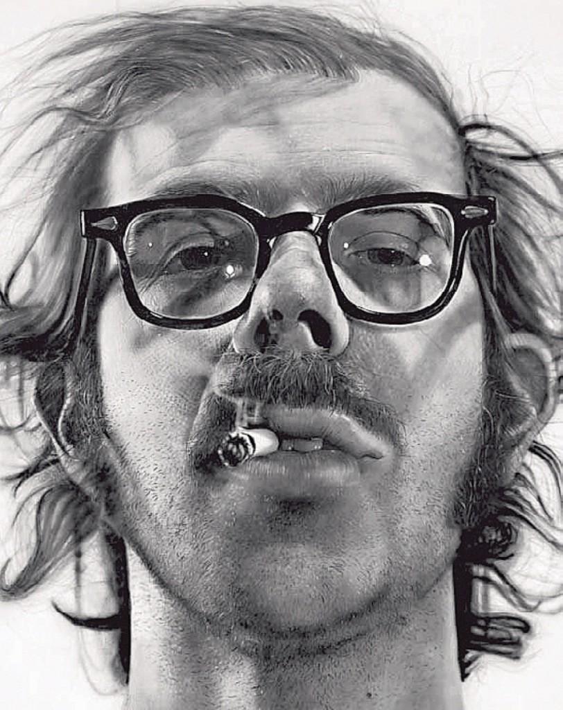 """Big Self-Portrait"" by Chuck Close, 1967-68. Walker Art Center, Minneapolis."
