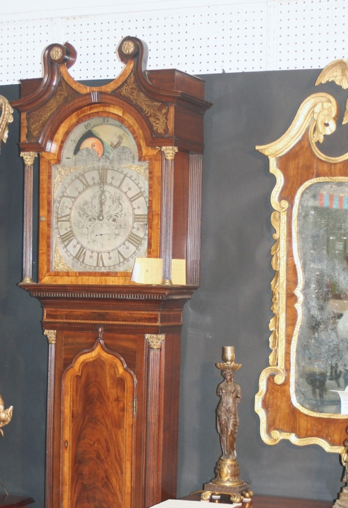 The English Chippendale period clock sold early in the weekend.