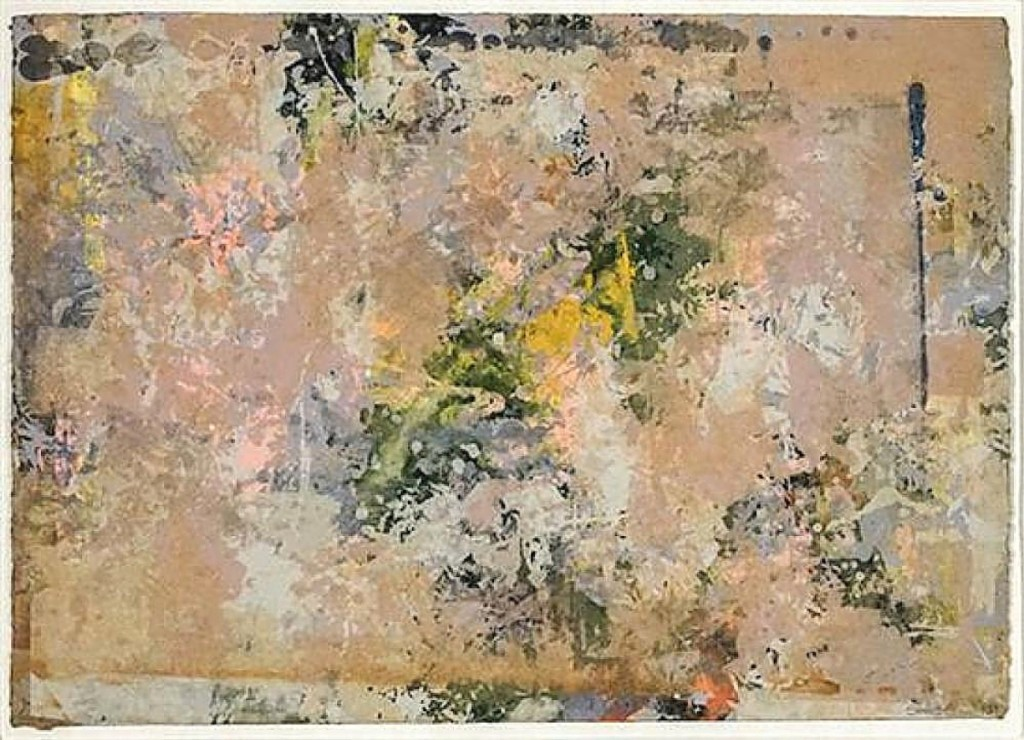 This untitled abstract by Sam Gilliam reached the second highest price in the sale, bringing $17,080 from a bidder in the United States. The mixed-media and aluminum dust work was on hand-wove paper measuring 18 by 25 inches and was dated 1973 ($8/12,000).