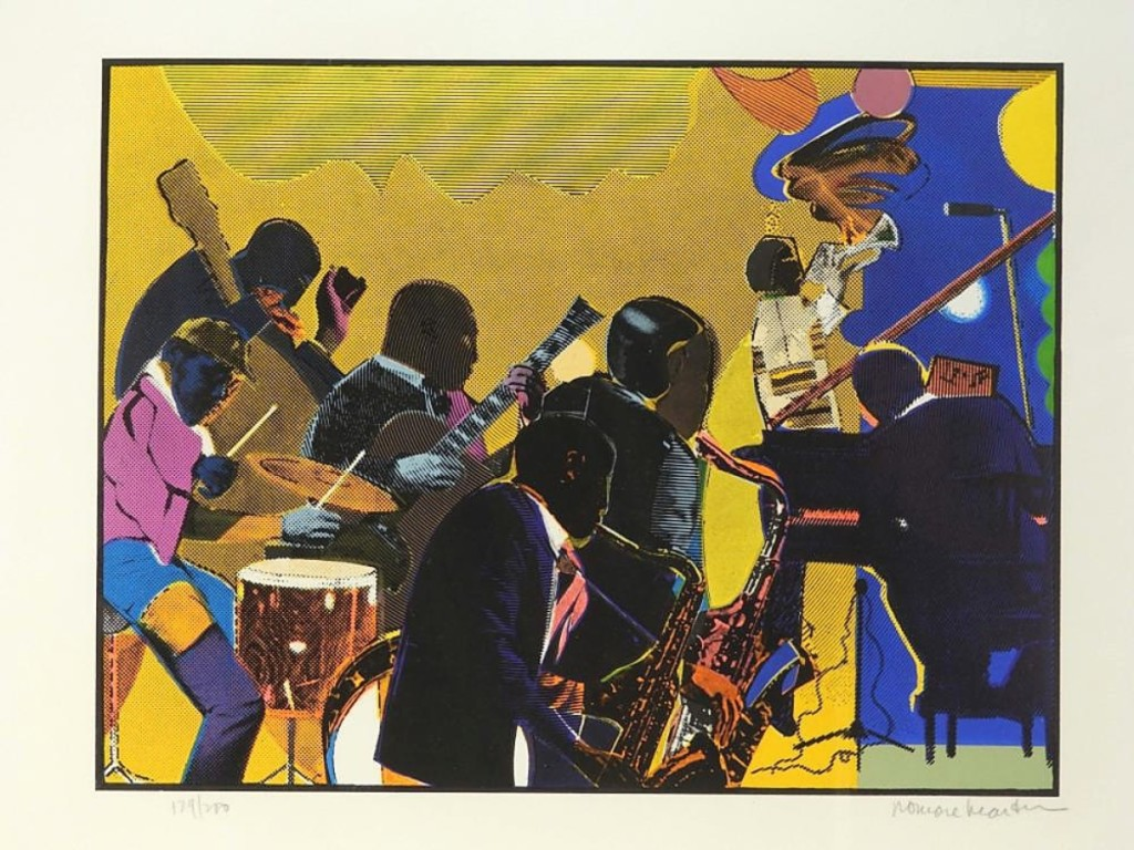 """An American bidder on LiveAuctioneers beat the band to get Romare Bearden's """"Jazz Band"""" lithograph for $2,125. It was #129 from an edition of 200 and came from a Providence, R.I., collection ($800-$1,200)."""