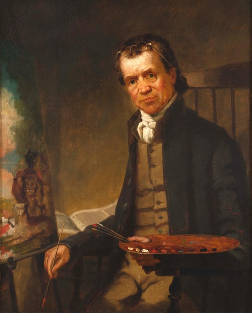 """Portrait of Edward Hicks"" by Thomas Hicks (1823-1890), Newton, Penn., 1838-41. Oil on canvas. Museum purchase, 1967."