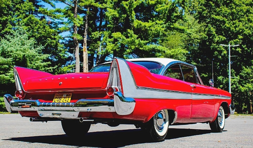 """This car is evil,"" the auctioneer wrote for this 1958 Plymouth Fury, which was one of 16 examples used to film Christine, the 1983 horror film adaptation of Stephen King's novel of the same name. In the story, Christine was a jealous and murderous car who ultimately met her end in a car crusher. This example was used in close up shots and was ultimately raffled by the filmmakers to publicize the film's release. The car led the sale at $275,000."