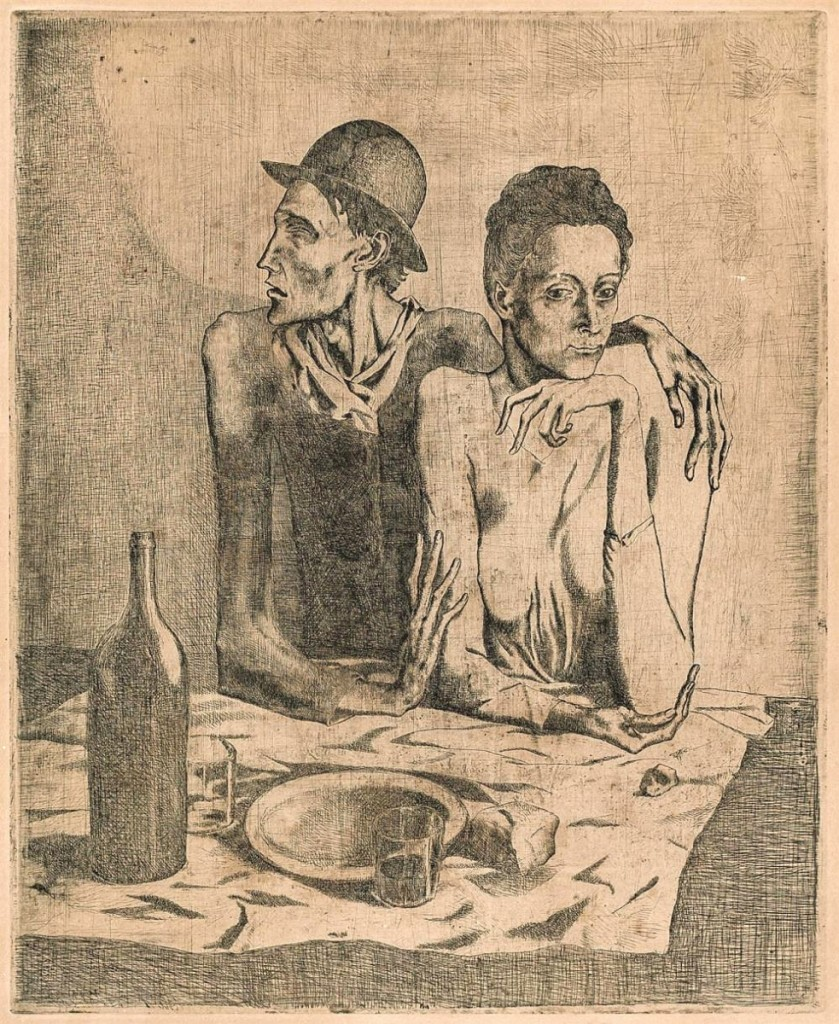 "Topping print offerings was ""Le Repas Frugal"" by Pablo Picasso (Spanish, 1881-1973), a 1904 etching with drypoint from his series ""La Suite des Saltimbanques,"" which sold to a private collector in the United States for $100,000. Germain noted that the work was ""very rare and fresh to the market with excellent provenance"" to a Greenwich, Conn., private collection ($80/120,000)."