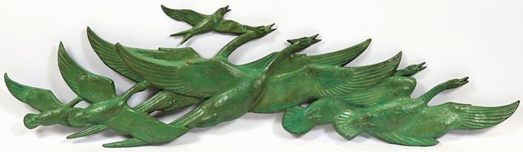 "The lowest price for any Marshall Fredericks bronze sculpture sold in the sale was $14,880 for ""Nature in Motion (Flying Wild Geese),"" which sold to a local collector ($15/20,000)."