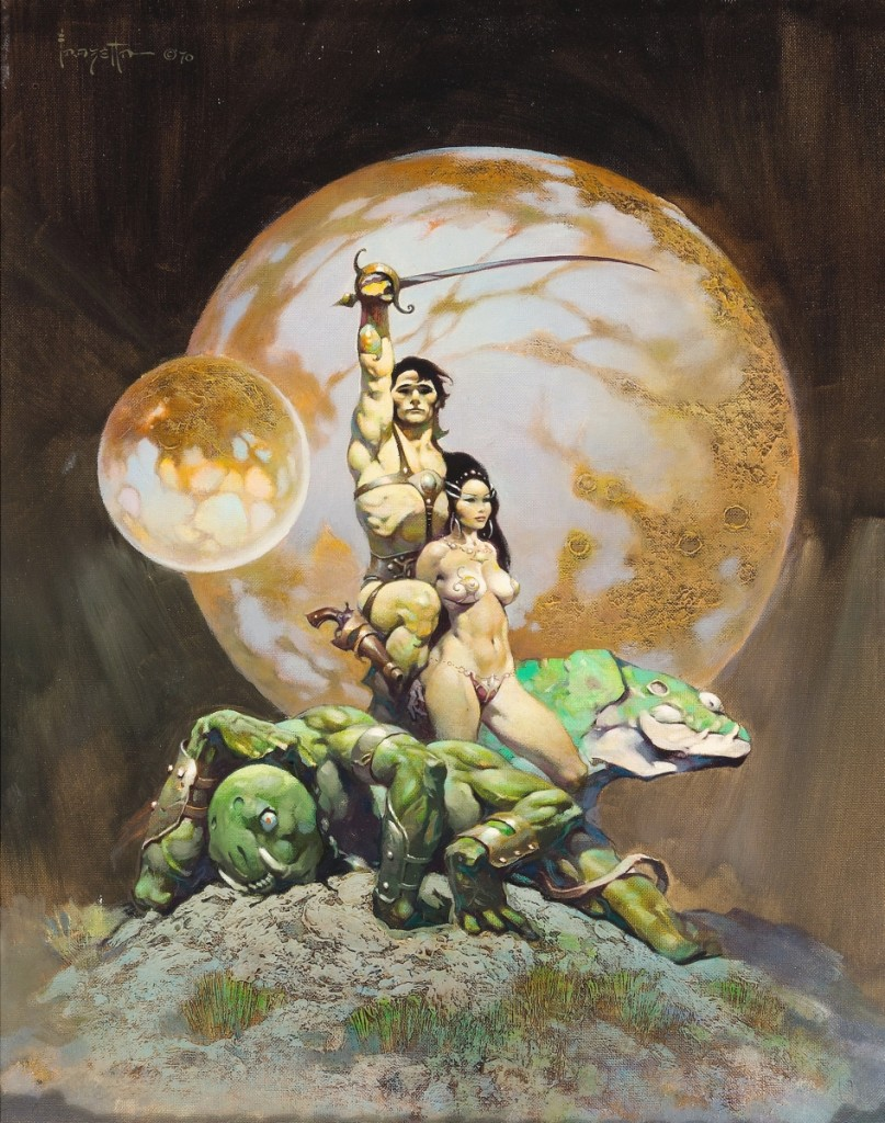 """Leading the sale was Frank Frazetta's original oil on canvas painting """"A Princess of Mars,"""" which brought the third highest price of the artist's career at auction with $1.2 million. This is the second version of the work that the artist created; the first used as the cover for Doubleday's 1970 re-release of Edgar Rice Burroughs' A Princess of Mars. The artist related that he liked this second version better than the first."""