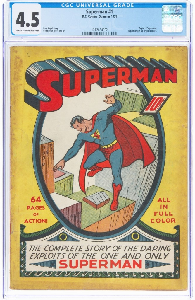 Only 11 issues of Superman #1 are graded higher than the present example at CGC VG+ 4.5, a level it shares with three other known issues. It sold for $336,000.