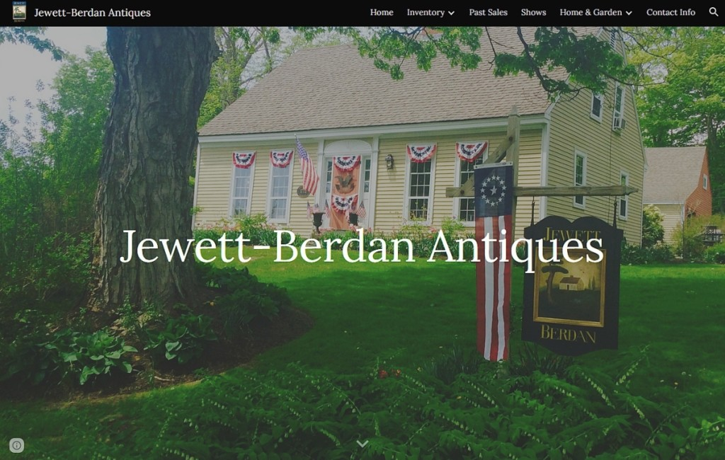 Visitors to Jewett-Berdan's website will feel as if they are pulling into the driveway of the Newcastle, Maine, dealers' home. On their initial website launch, the dealers said they sold around ten objects, with their next upload scheduled for September 15. The site is at www.jewett-berdan.com.