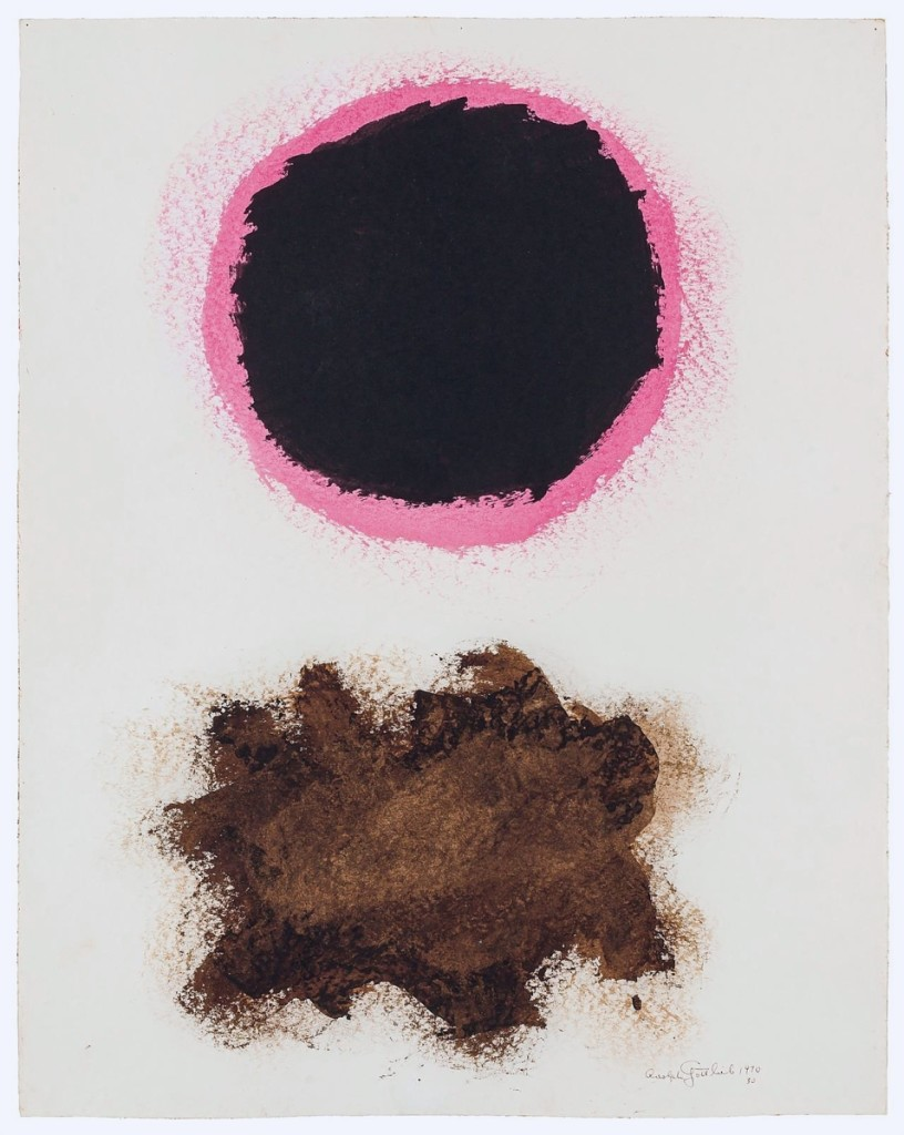 "Topping both the Berry collection and the sale was Adolph Gottlieb's 1970 ""Untitled #30,"" an acrylic on paper work measuring 23¾ by 18¾ inches that multiple phone bidders competed for, eventually going to one for $162,500 ($80/120,000)."