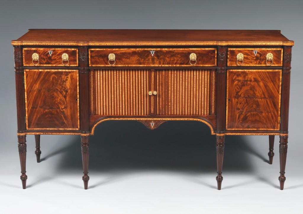 Ginsburg & Levy first acquired this sideboard attributed to Thomas Seymour (1771-1848), Boston, 1805-10, in 1906. It is now at the Metropolitan Museum of Art. Photo courtesy Metropolitan Museum of Art.