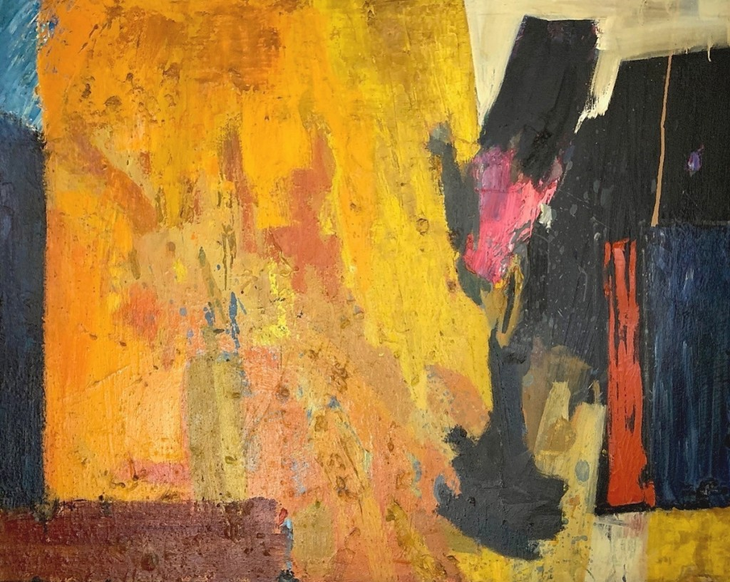 Leading the sale at $8,125 was this untitled abstract by Peter Busa.
