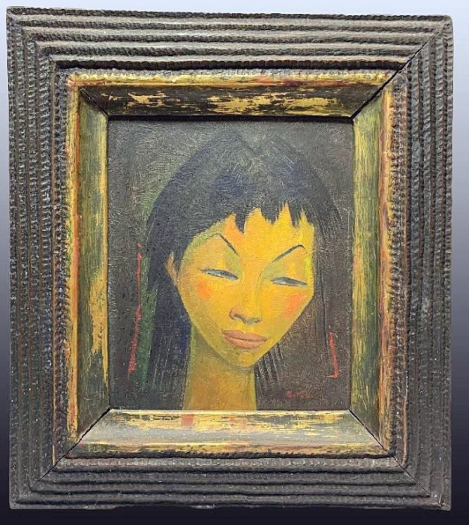 A relative of artist Angel Botello (1913-1986) purchased this painting by the artist for $8,050. The 15½-by-13-inch oil on board came in an artist-made frame and had been in Mathesons' collection for 15 years.