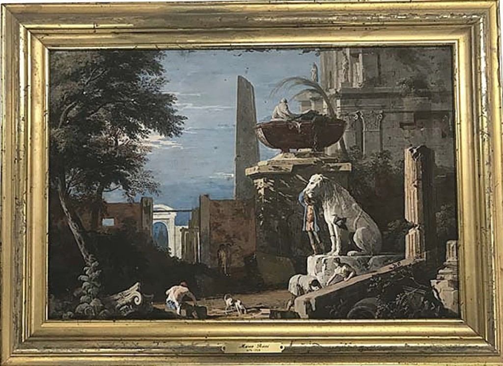One of two works by Venetian painter Marco Ricci (1679-1729) that were among the sale's top selling highlights, this tempera on board classical composition fetched $26,400, more than six times its high estimate.