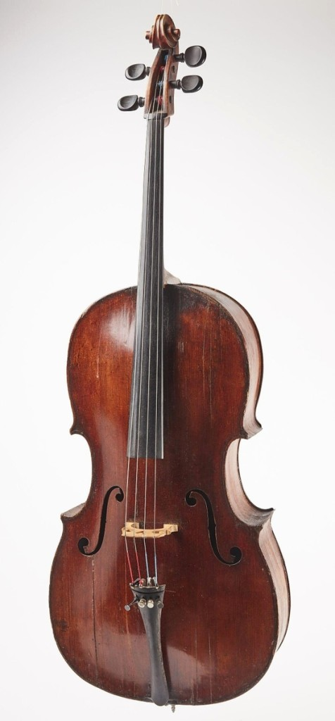 The top price achieved in the second day of sales was $48,750 for this Nineteenth Century cello made by Gaetano Guadagnini (Italian, 1800-1860). It had been played by a professional cellist in the New Haven area who recently passed away; his widow apparently had no idea of its value and Giampietro said he was very pleased with the result. It was purchased by a buyer in Australia ($5/10,000).