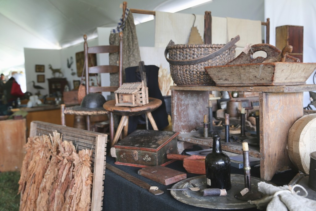 Primitives were on tap from Ivy Hill Primitives, Bucks County, Penn.                                —Antiques At Fletcher Fields