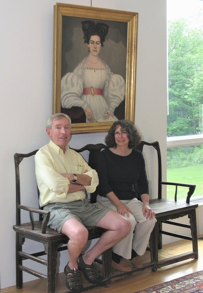 Inspired by their mutual appreciation of the architecture of Richard Meier, Peter and Joan designed and built a house in Newbury, Mass. They furnished the structure, completed in 2003, with their eclectic personal collection.