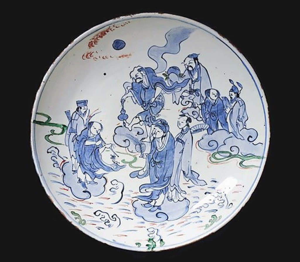 Kosometsuke dish with the eight immortals, late Ming dynasty, early Seventeenth Century. Kaikodo LLC, New York City.
