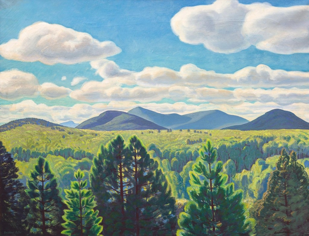 "Leading the sale was Rockwell Kent's ""Tree Tops and Mountain Peaks,"" which a private collector in the Adirondacks, bidding on CottoneLive, won for $336,000 ($80/120,000)."
